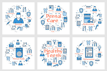 Set of banners for dental health concept