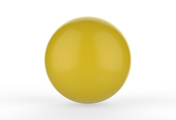 Colorful glossy candy ball on white background, 3d illustration