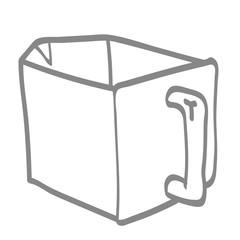 Handgezeichnete Schütte in grau