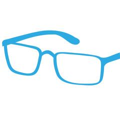 Handgezeichnete Brille in blau