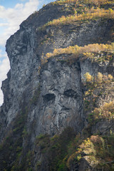 Troll Face on a Cliff of the Geirangerfjord
