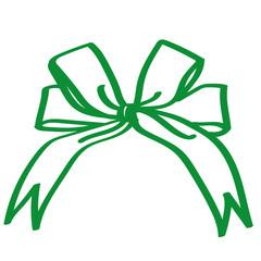 Handgezeichnete Schleife in grün