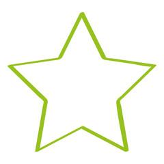Handgezeichneter Stern in hellgrün