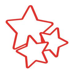 Handgezeichnete Sterne in rot