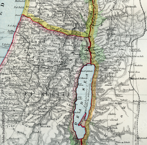 Dead Sea - Vintage Maps of the World