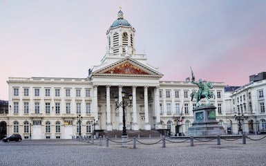 Brussels, Belgium, St. James Church. St. James Church is a beautiful building in the Royal square. The Church was built in neo-classical style.