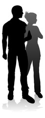 Young Couple People Silhouette
