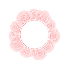 Pink Rose Banner Wreath