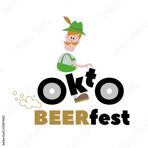 Oktoberfest. A man on a motorcycle 5ca96059306