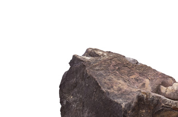 Rock cliff in nature isolated on white background.