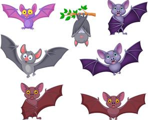 Cartoon bats collection set