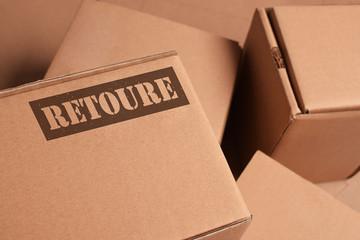 Pakete im Lager Retoure/Rücksendung
