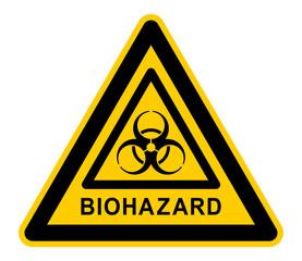 wso359 WarnSchildOrange - nwso359 NewWarnSchildOrange - german - Warnzeichen - Warnung / Biogefährdung - english text - warning sign - Biohazard: triangular yellow xxl - e6500