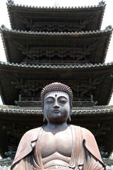 大仏と五重塔