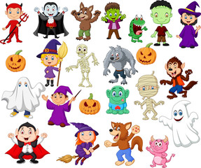 Big collections of halloween cartoon