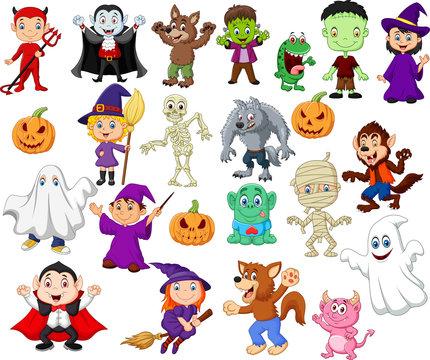 Big collections of halloween cartoon