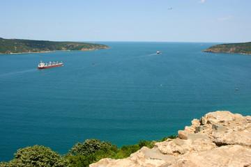 Bosphorus view from Anadolu Kavagi, Istanbu, Turkey