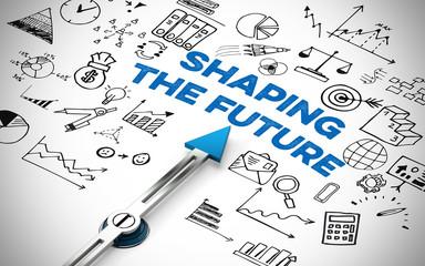 Zukunft gestalten in Englisch (shaping the future)