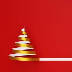 Goldener Weihnachtsbaum auf Weihnachten Karte