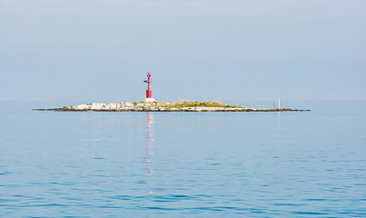Light beacon on the small island