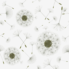 Seamless background from a dandelion.