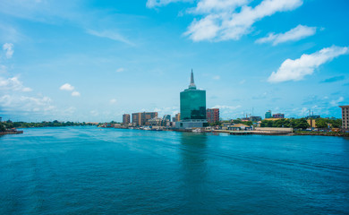 A view of the Lagoon, Victoria Island, Lagos