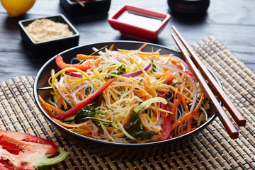 crispy and fresh asian vegetable salad