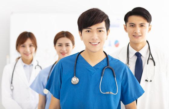 Portrait of asian medical team, doctors and nurses.