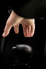 Closeup of a Hand on Gear Shift