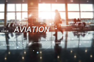 airport terminal business background