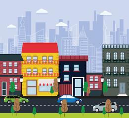 Illustration of urban landscape