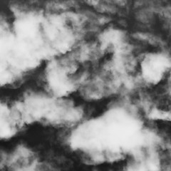 Abstract dark grey background from a cloudy sky. Square background for a post in an instagram. Black and white view