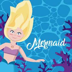 Beautiful mermaid cartoons