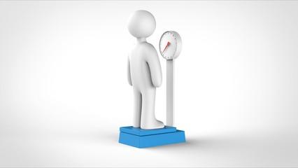 体重計と人 裏側