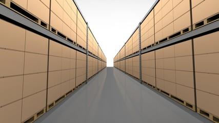物流倉庫の通路