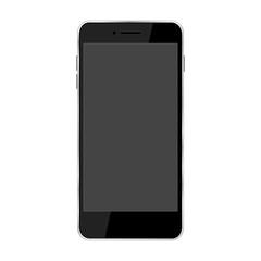 黒いスマホ、電源オフ。スマートフォンイラスト、グラフィック素材