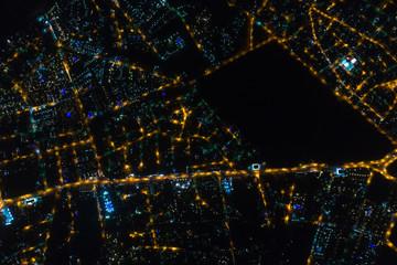 Luzes da cidade de Búzios à noite