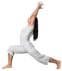 Portrait of a Woman Doing Yoga Exercise