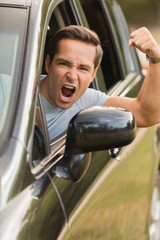 Portrait of an Angry Driver