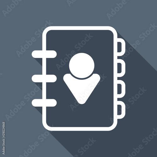 address book with person on cover simple icon linear symbol wi