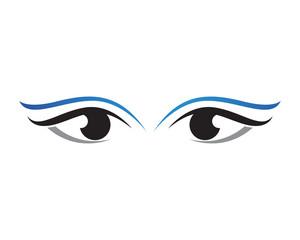 Eyes care health logo and symbols