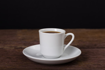 a white coffee cup for espresso and turkish coffee