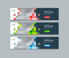 abstract horizontal  web banner design template backgrounds