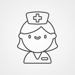 Nurse vector icon