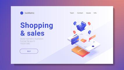 Discount sale concept. Vector illustration