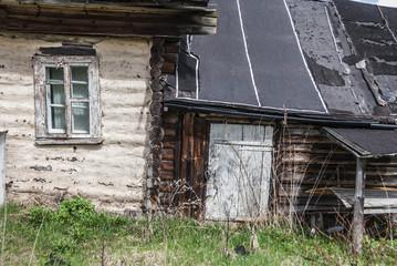 old abandoned village house