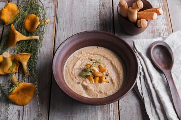 mushroom cream soup,chanterelle