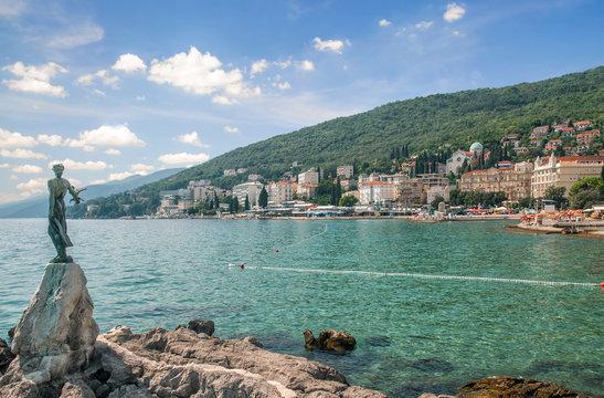 im beliebten Seebad Opatija in Istrien an der Adria,Kroatien
