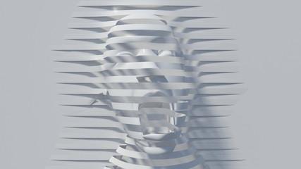 shout abstrat illusion background. 3D Illustration