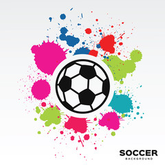 Soccer game  background in abstract design with ball.